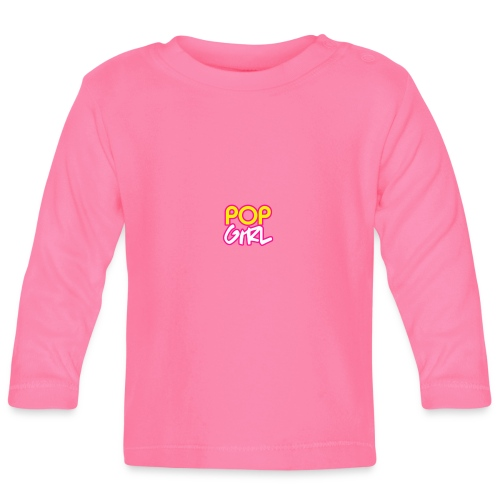 Pop Girl logo - Baby Long Sleeve T-Shirt