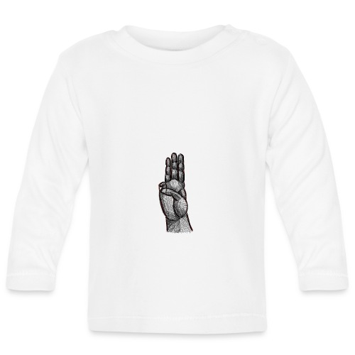 Pfadfindergruß Skribble Schwarz - Baby Langarmshirt