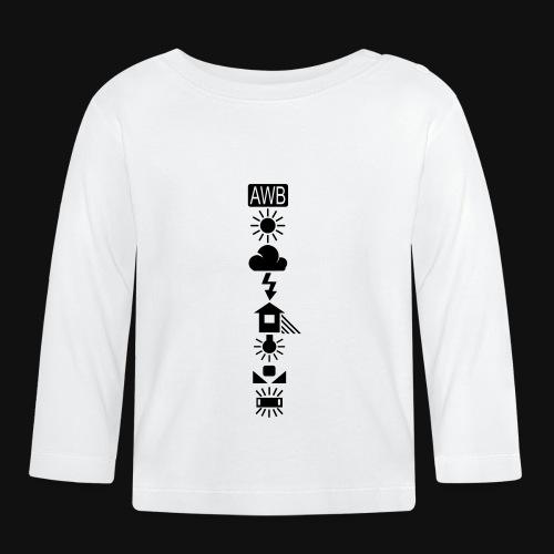 Weissabgleich Symbole Vertikal - Baby Langarmshirt