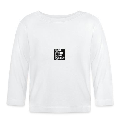 eat sleep bike repeat - T-shirt manches longues Bébé