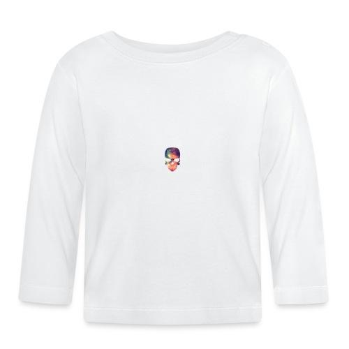 universe-space-galaxy-skull - Vauvan pitkähihainen paita