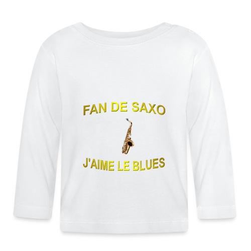 Tee-Shirt pour les fans de blues, et de saxo. - T-shirt manches longues Bébé