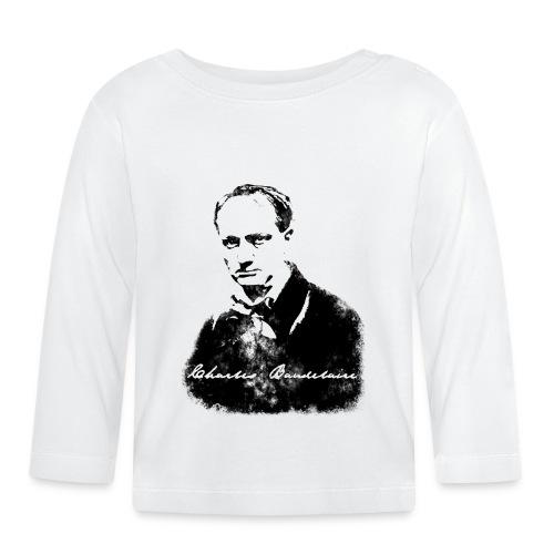 Baudelaire (fond blanc) + signature - T-shirt manches longues Bébé