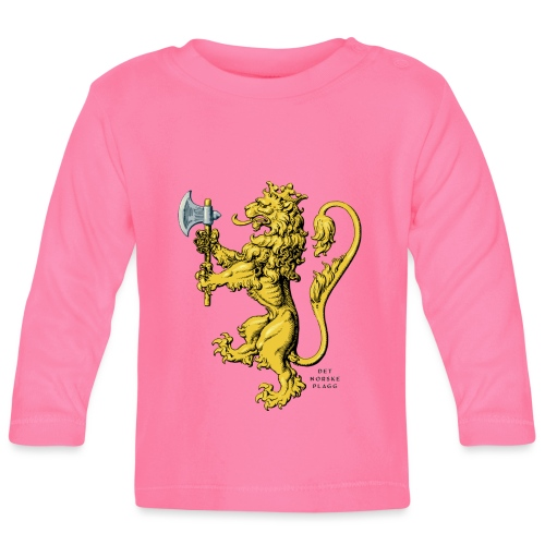 Den norske løve i gammel versjon - Langarmet baby-T-skjorte