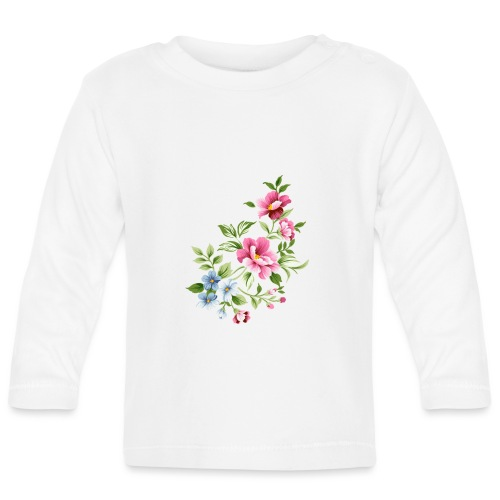 Flowers of love - Camiseta manga larga bebé