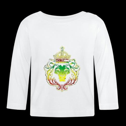 LION FACE RGG wht edge - Baby Long Sleeve T-Shirt