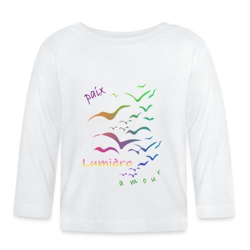 Paix Amour lumière - T-shirt manches longues Bébé