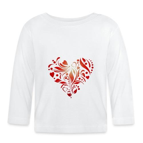 motif coeur rouge - T-shirt manches longues Bébé