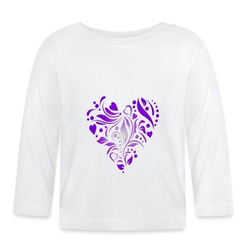 coeur mauve - T-shirt manches longues Bébé