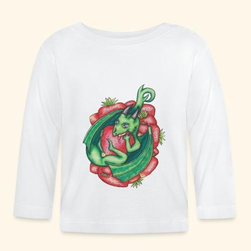 Drake med jordgubbar - Långärmad T-shirt baby