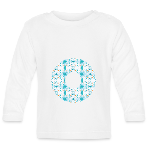Hippie flowers donut - Baby Long Sleeve T-Shirt