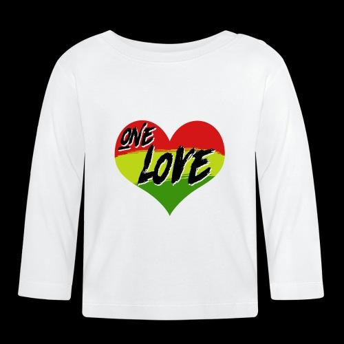 ONE LOVE - HEART - Baby Langarmshirt