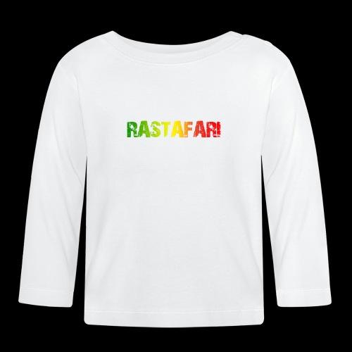 RASTAFARI - PEACE LOVE & UNITY - Baby Langarmshirt