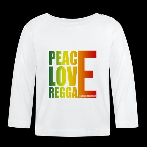 PEACE LOVE REGGAE - Baby Langarmshirt
