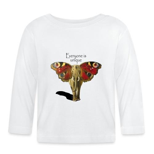 Everyone is unique – Schmettefant - Baby Langarmshirt