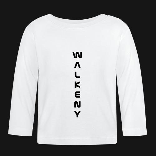 Walkeny Schriftzug vertikal in schwarz - Baby Langarmshirt