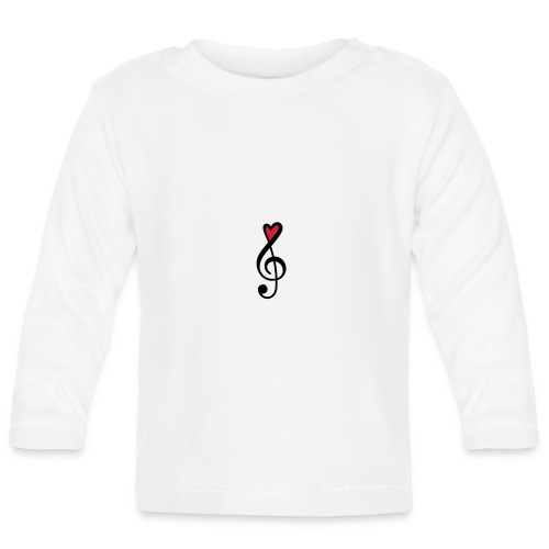 Notenschlüssel Herz rot Musik - Baby Langarmshirt