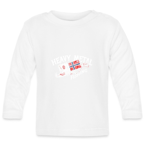Norwegen Flagge - Baby Langarmshirt
