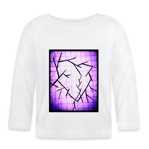 Purple broken heart - Langærmet babyshirt