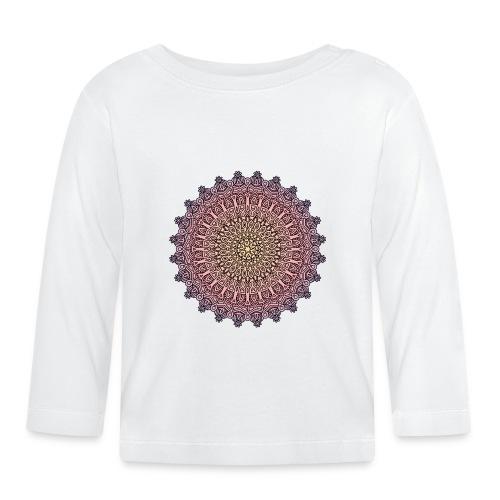 Mandala Sonnenuntergang - Baby Langarmshirt