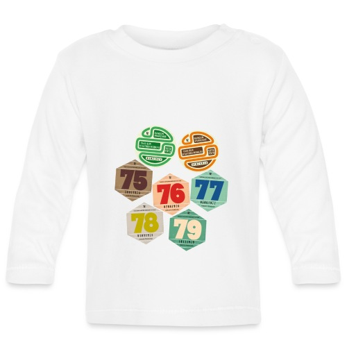 Vignettes automobiles années 70 - T-shirt manches longues Bébé