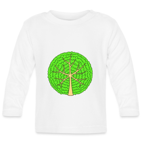 Baum, rund, hellgrün - Baby Langarmshirt