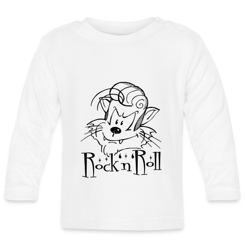 Rock'n'Roll Cat - Baby Langarmshirt