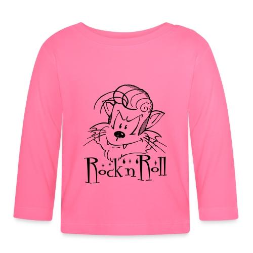 Rock'n'Roll Cat - Baby Langarmshirt
