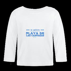 Te quiero Playa de Las Canteras - Camiseta manga larga bebé