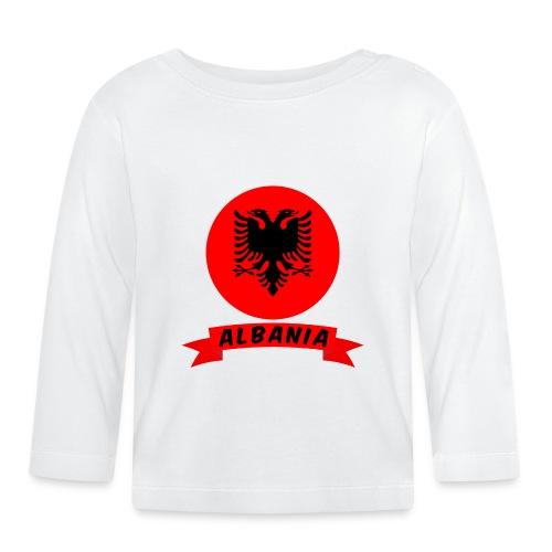flag of Albania t-shirt design banner gift idea - Maglietta a manica lunga per bambini