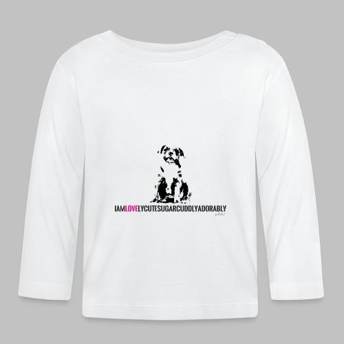 FRANZÖSISCHE BULLDOGE - WELPEN - LOVE - Baby Langarmshirt
