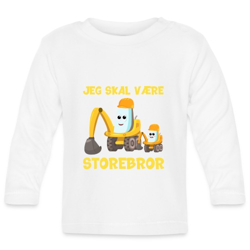 Jeg skal være storebror gave gravko muddermaskine - Langærmet babyshirt
