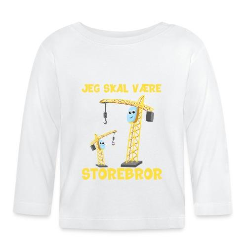 Jeg skal være storebror kran gave muddermaskine - Langærmet babyshirt