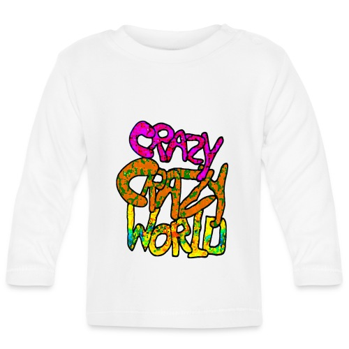 kleurige crazy crazy world - T-shirt