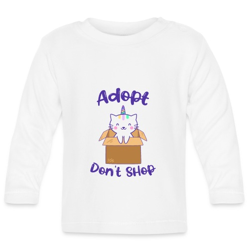 Adopt dont shop Tierheim Kinder Katzen Kitten - Baby Langarmshirt