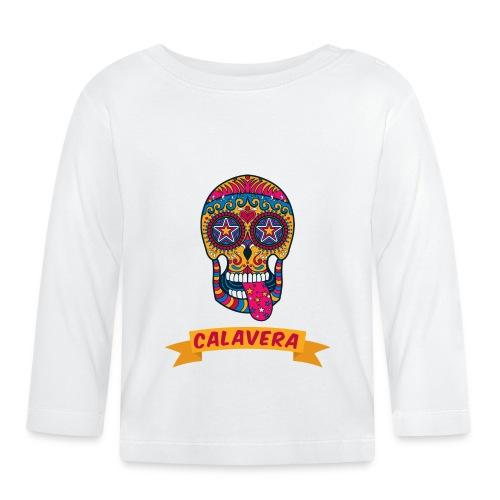colorful skull calavera mexican sugar skull - Maglietta a manica lunga per bambini