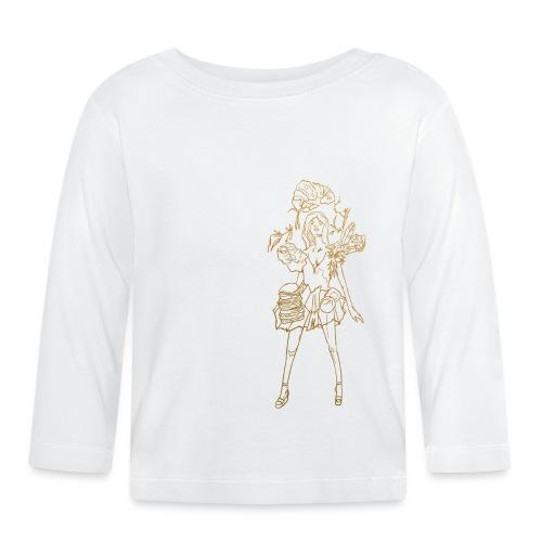 Fashion food lady in gold - Baby Langarmshirt