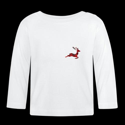 noël cerf écossais - T-shirt manches longues Bébé