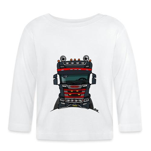 0814 S truck zwart rood - T-shirt
