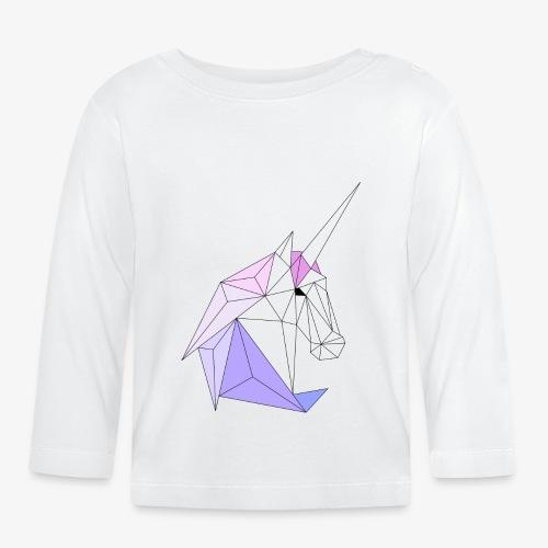 Einhorn geometrie unicorn - Baby Langarmshirt