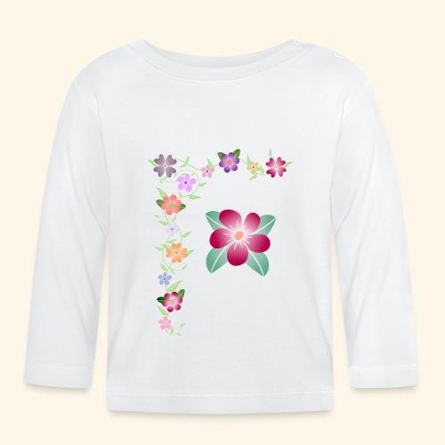 Blumenranke, Blumen, Blüten, floral, blumig, bunt - Baby Langarmshirt