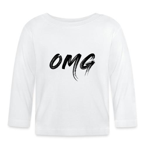 OMG, musta - Vauvan pitkähihainen paita