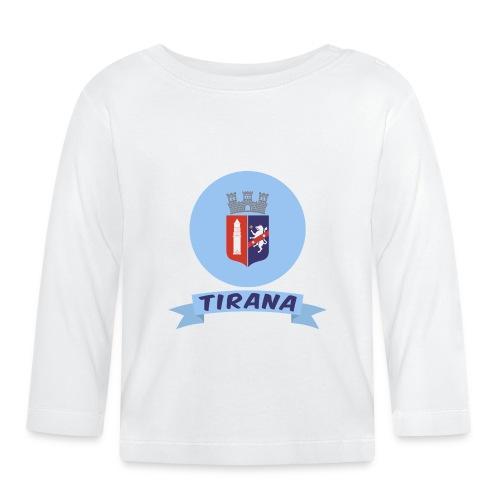 flag of Tirana Albania t-shirt design gift idea - Maglietta a manica lunga per bambini