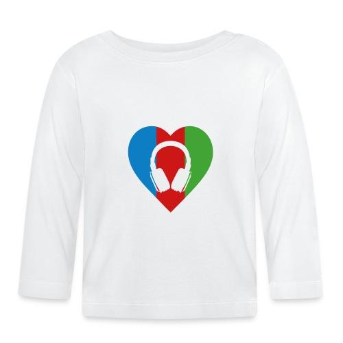 Silent Disco Love RGB | Headphone White - Baby Langarmshirt