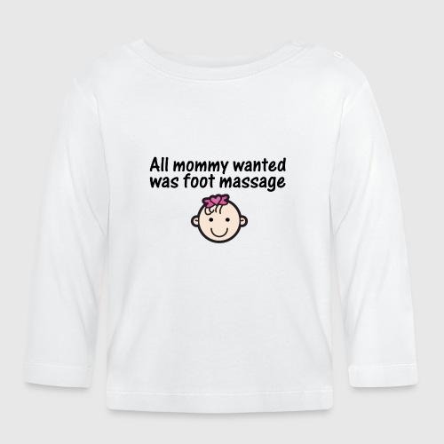 baby girl1 png - Langærmet babyshirt