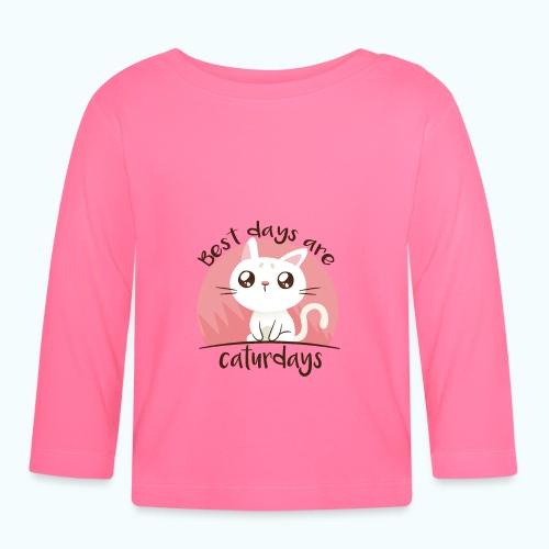 Saturdays - NO - Caturdays - Baby Long Sleeve T-Shirt