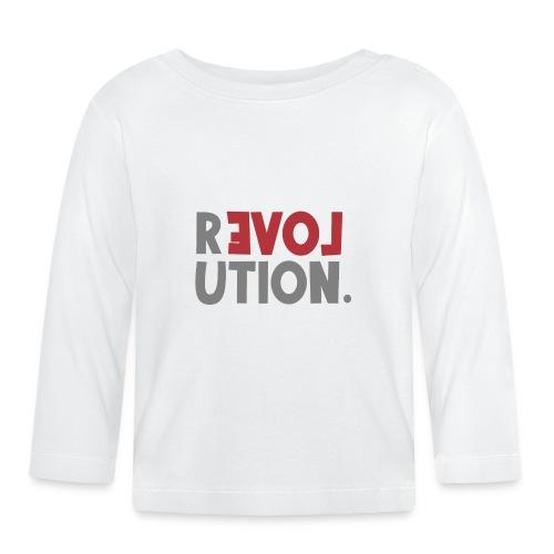 Revolution Love Sprüche Statement be different - Baby Langarmshirt