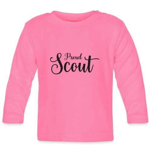 Proud Scout Lettering Black - Baby Langarmshirt