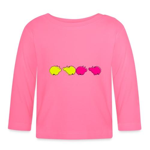 Cochons roses - T-shirt manches longues Bébé