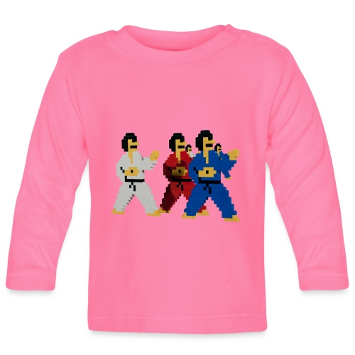 8 bit trip ninjas 1 - Baby Long Sleeve T-Shirt